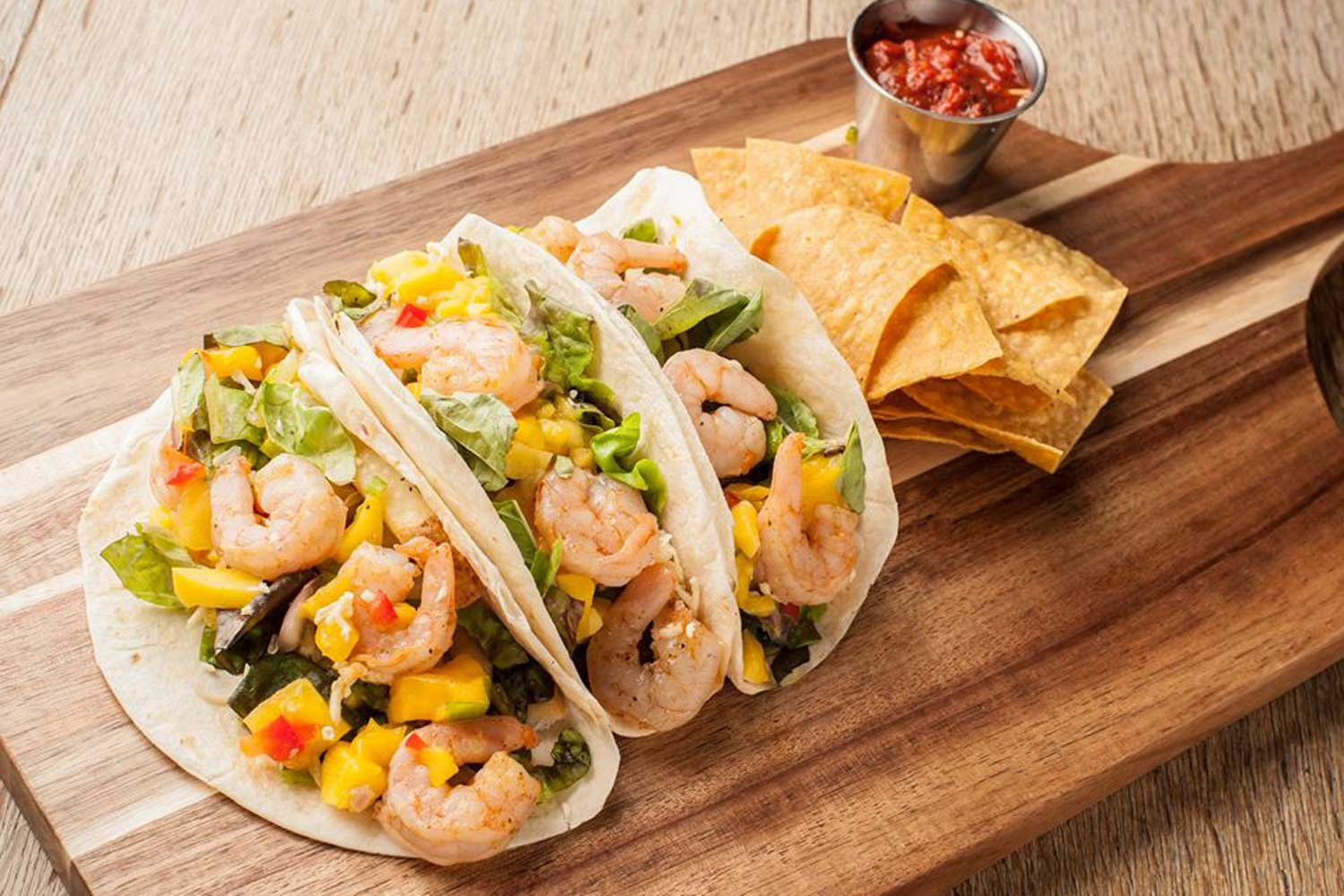 Hemingways Blue Water Cafe Shrimp Tacos | Bass Pro Angler's Inn, Springfield, Missouri