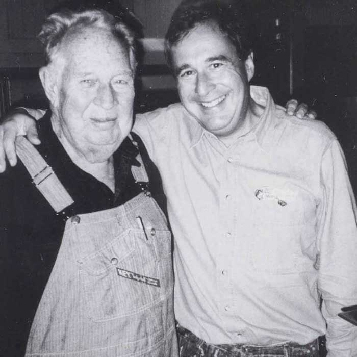 Johnny with his father and mentor John A. Morris