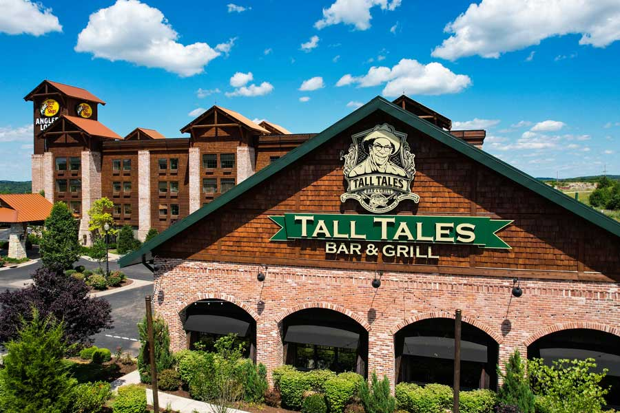 Tall Tales Bar & Grill next to Angler's Lodge